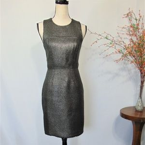 Banana Republic Sheath Dress Key Hole Textured